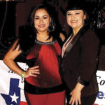 IDOL WORSHIP: This year's winner, Veronica Flores of Raymondville, with Tejano legend Shelly Lares